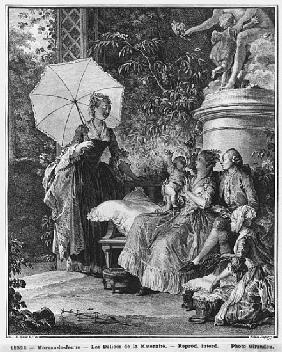 The delights of motherhood; engraved by Isidore Stanislas Helman (1749-1809) 1776