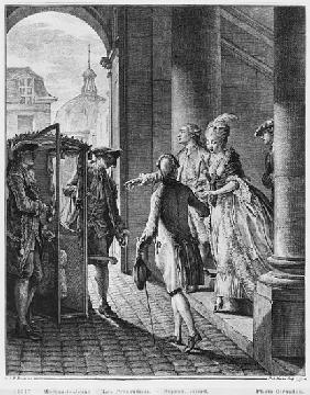 The Precautions; engraved by Pietro Antonio Martini (1739-97)