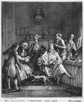 The Small Toilette; engraved by Pietro Antonio Martini (1739-97)