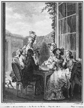 The whist party; engraved by Jean Dambrun (1741-after 1808) 1783
