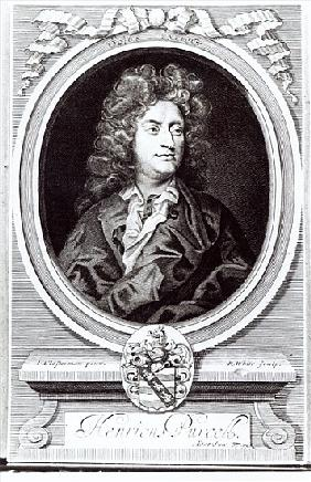 Portrait of Henry Purcell (1659-95), English composer; engraved by R. White