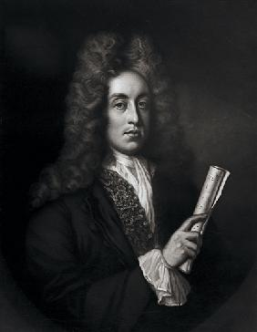 Portrait of Henry Purcell ; engraved by George J. Zobel