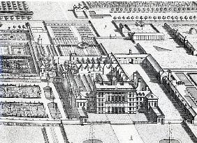 Badminton House on the County of Gloucester; engraved by Johannes Kip(detail of 192764)