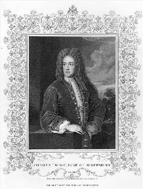 Charles Talbot, Duke of Shrewsbury; engraved by J. Cochran