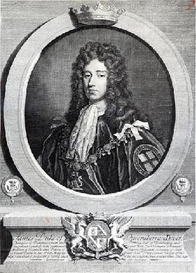 James Douglas, 2nd Duke of Queensberry; engraved by Louis du Guernier II
