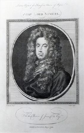 John, Lord Somers; engraved by John Golder