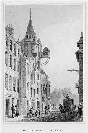 The Canongate Tolbooth, Edinburgh; engraved by Thomas Barber