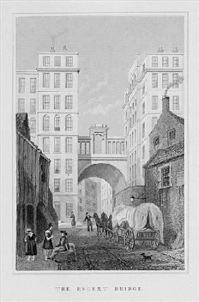 The Regent Bridge, Edinburgh; engraved by Thomas Barber