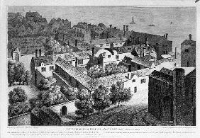 Winchester House, Southwark in about 1649, published in 1812
