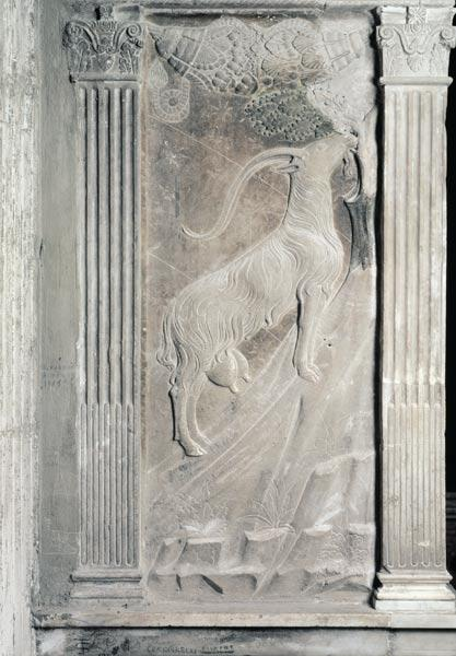 Capricorn, relief from the Chapel of the Planets