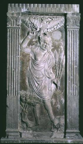 Jupiter from a series of reliefs depicting planetary symbols and signs of the zodiac
