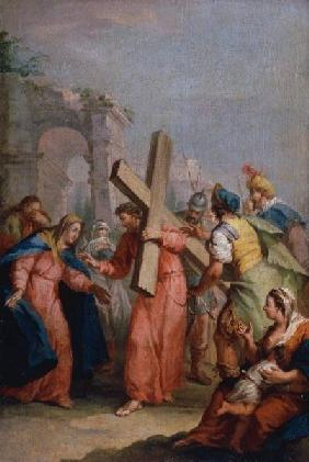 A.Zucchi / Carrying of the Cross / 1750