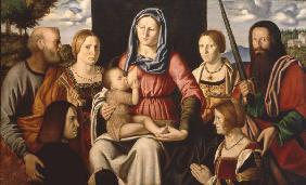 Mary, Child, Saints / Luini