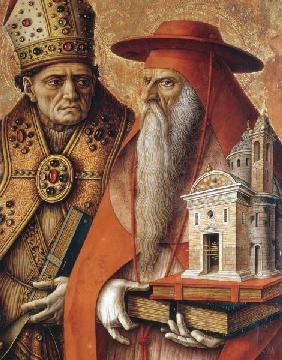 C.Crivelli / Jerome and Augustine