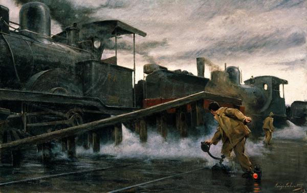 Railways / Painting by L.Selvatico /1903