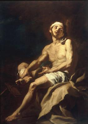 F.Solimena / Poor Lazarus / Paint./ 1700