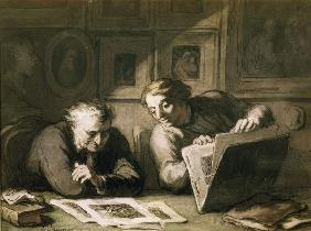 H. Daumier / Deux amateurs d''estampes