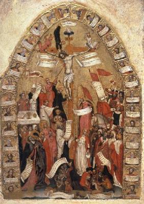 Crucifixion of Christ / Paint./ C14th