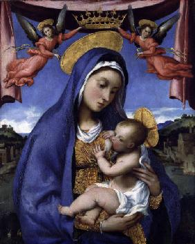 L.Lotto / Mary Nursing Child / c.1529