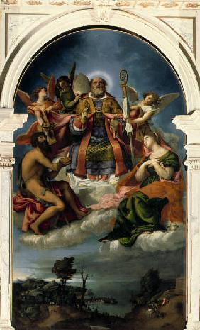 L.Lotto / St. Nicholas in glory