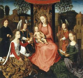 Memling Copy / Mary w.Child, Catherine..