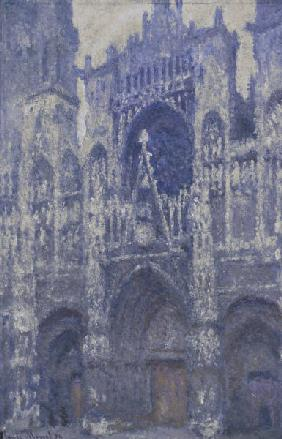 The cathedral of Rouen, grey weather