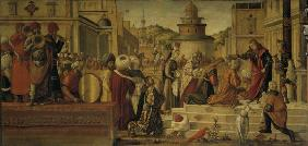 V.Carpaccio / George baptizes King Ajus