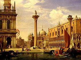 View of the Piazzetta and Piazza di S.Marco in Venice