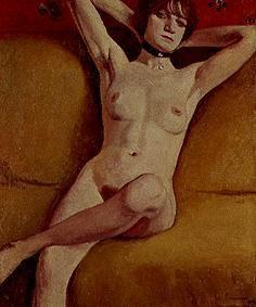 Naked woman on the divan