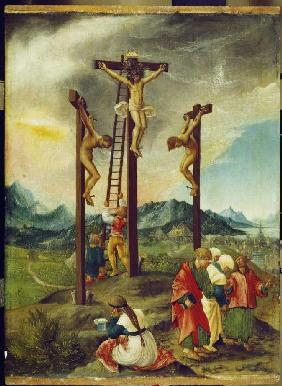 Christ at the cross between the two Schächern