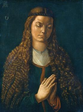 Portrait of a Young Woman with Her Hair Down