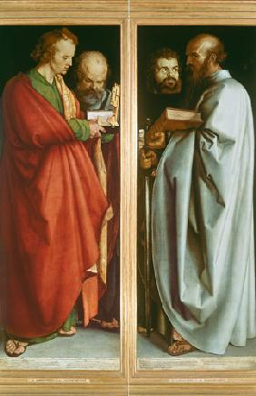 St. John with St. Peter and St. Paul with St. Mark