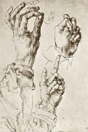 A.Dürer, Study of Three Hands / c.1490