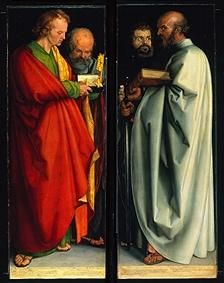 The four apostles (Johannes. Ev ., Peter, Markus, Paulus)