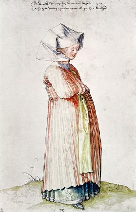 A.Dürer,Nuremberg Woman Dressed f.Church