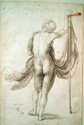 Nude Study or, Nude Female from the Back