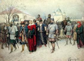 Joining of Great Novgorod, Novgorodians Departing to Moscow