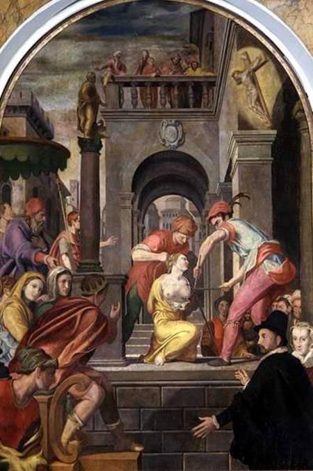 The Martyrdom Of St Agatha Alessandro Allori As Art
