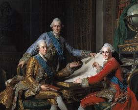 King Gustav III of Sweden (1746-92) and his Brothers