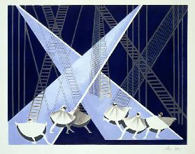 Set Design for a Ballet, illustration from Maquettes de Theatre by Alexandra Exter, published 1920s