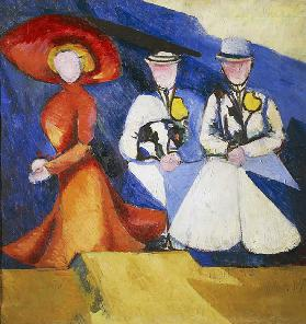 Three female figures, 1909-1910