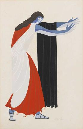 "Costume design for the play ""Seven Against Thebes"" by Aeschylus"