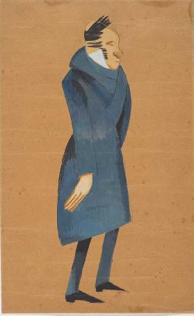 Costume design for the play The Death of Tarelkin by A. Sukhovo-Kobylin