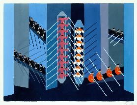Experimental Set Design, illustration from Maquettes de Theatre by Alexandra Exter, published 1920s
