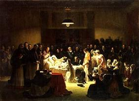 The Last Moments of Charles-Ferdinand of France (1778-1820) in the Administration Room of the Paris