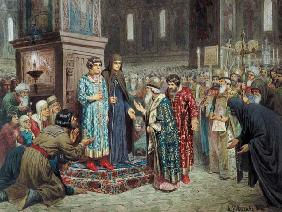Council calling Michael F. Romanov (1596-1645) to the Reign