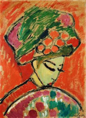 Young Girl with a Flowered Hat, 1910