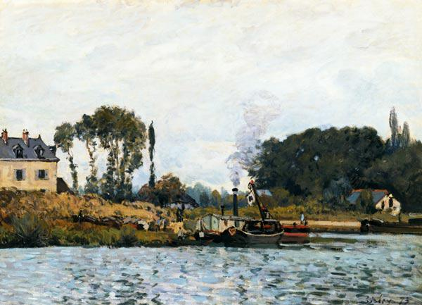 Sisley / Boats at the floodgate / 1873