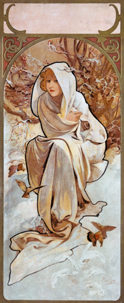 The Seasons: Winter - Alphonse Mucha as art print or hand ...