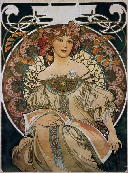 for F. Champenois however without company impression) - Alphonse Mucha